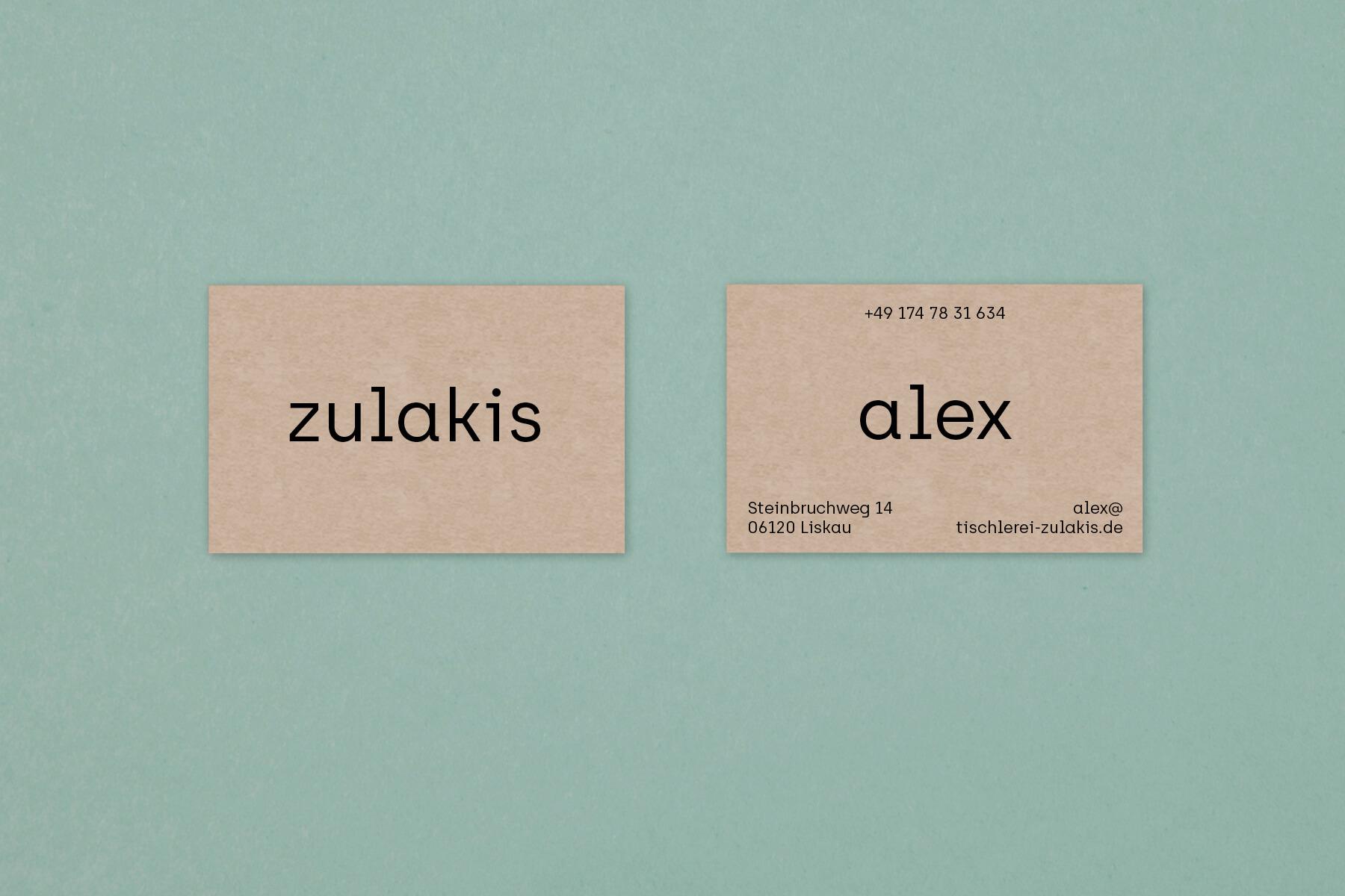 Grafikdesign zulakis Corporate Identity Detail.