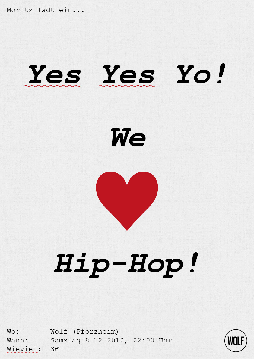 Plakat rot - We love HipHop